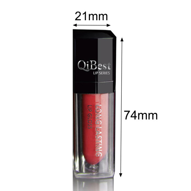 Qibest With Not Fade Lip Glossy Matte Lipstick Liquid Long Lasting Pro Beauty Makeup 12 Colors Q2501 Hot Selling