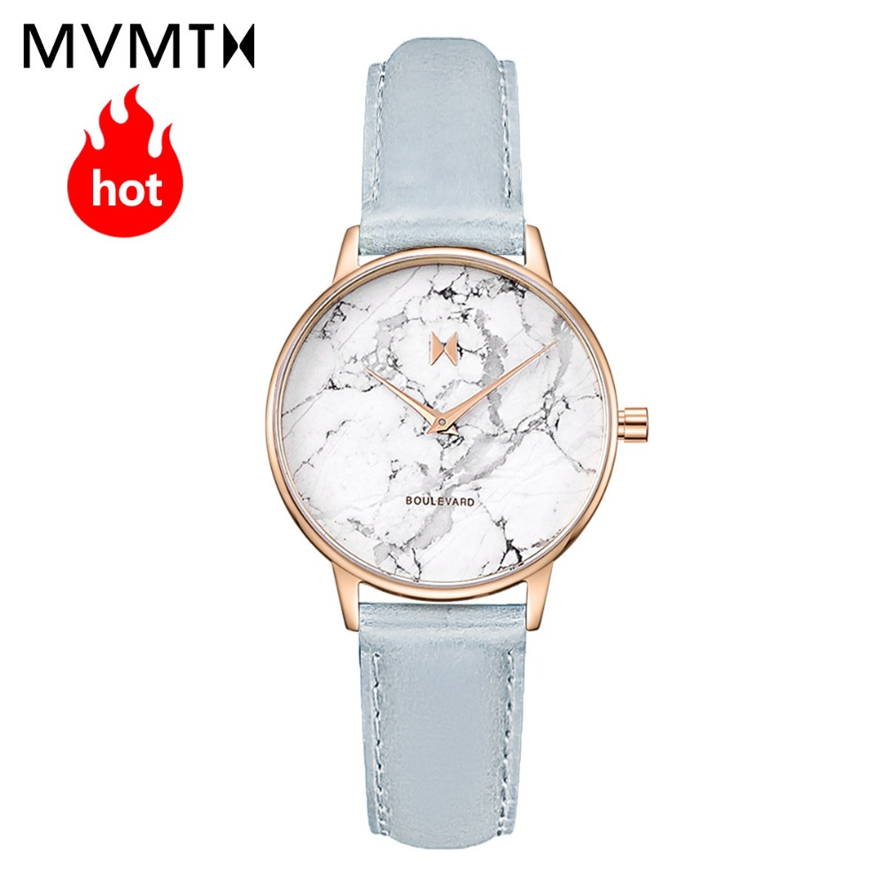 MVMT watch Boulevard simple fashion trend marble dial lady watch, adornment belt quartz waterproof watch цена и фото