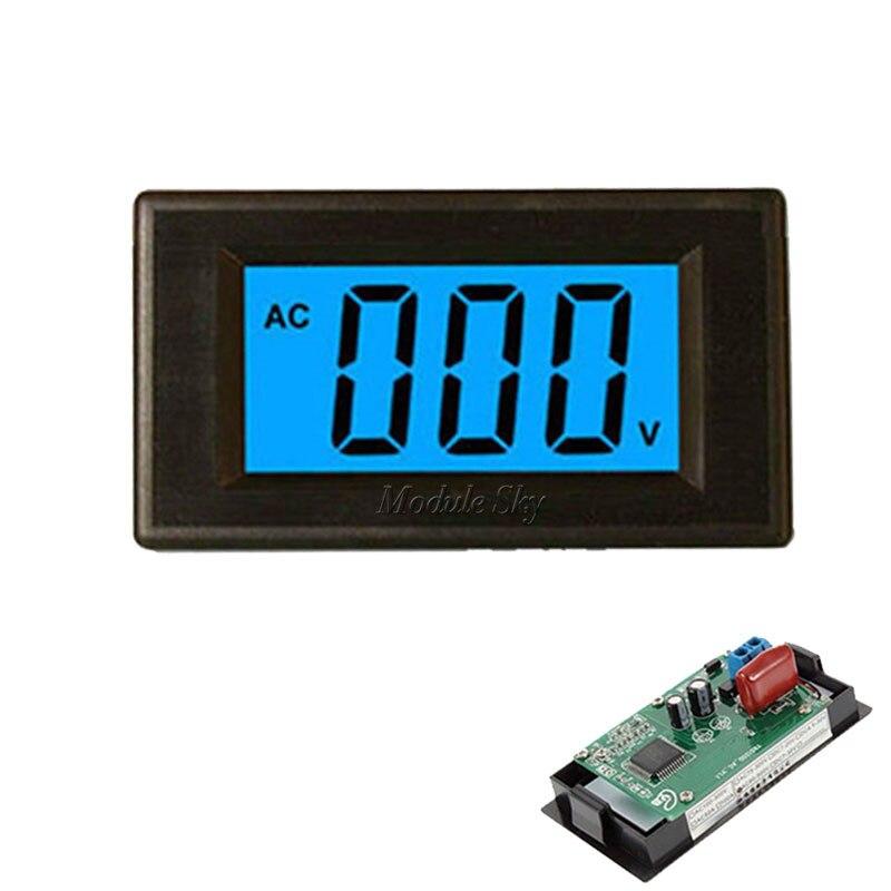 2 draht Blau Digital LCD AC 80 500 V Volt Panel Meter Voltmeter ...