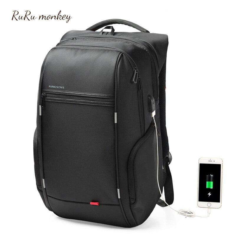 RURU monkey Male Backpack 15 6 Inch Laptop Outdoor Bags Black Multifunction Package Travel Backpack Mochilas