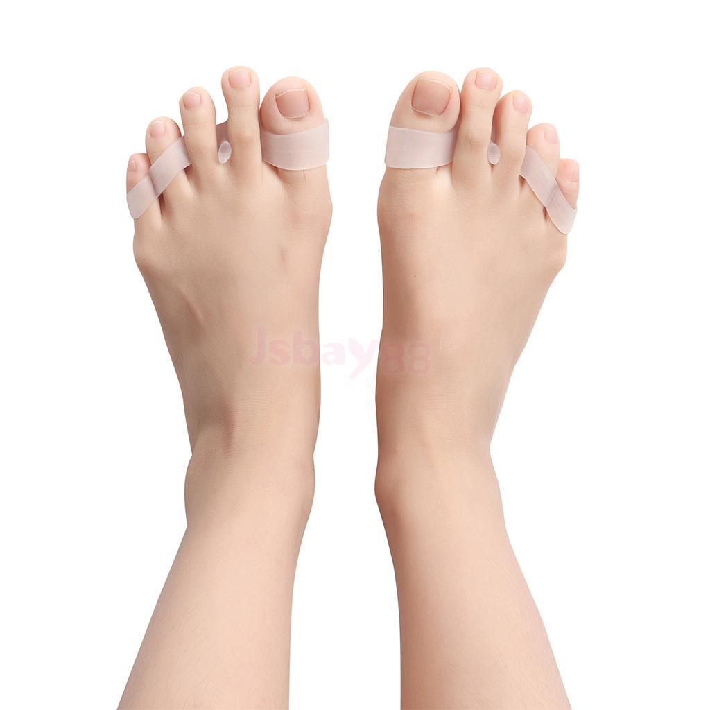 1 Pair Unisex Gel Toe Separators Toe Spacers Toe Stretchers Easy Wear in Shoes
