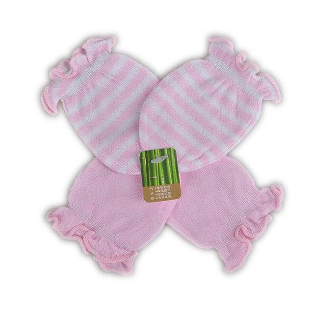 e6a454d6604d4 2 Pares guantes manoplas para bebés recién nacidos Algodón Guantes Anti  Rascar bebé para los bebés