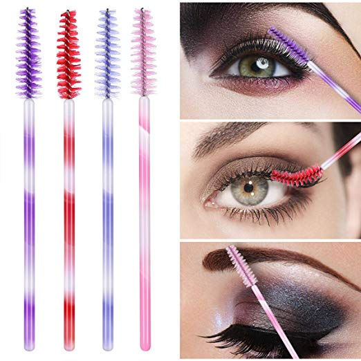 Fashion Eyelash Extension Brushes Disposable Mascara Wands Applicator Lashes Tools 1000pcs lot Colorful Handle 6 Colors in Eye Shadow Applicator from Beauty Health