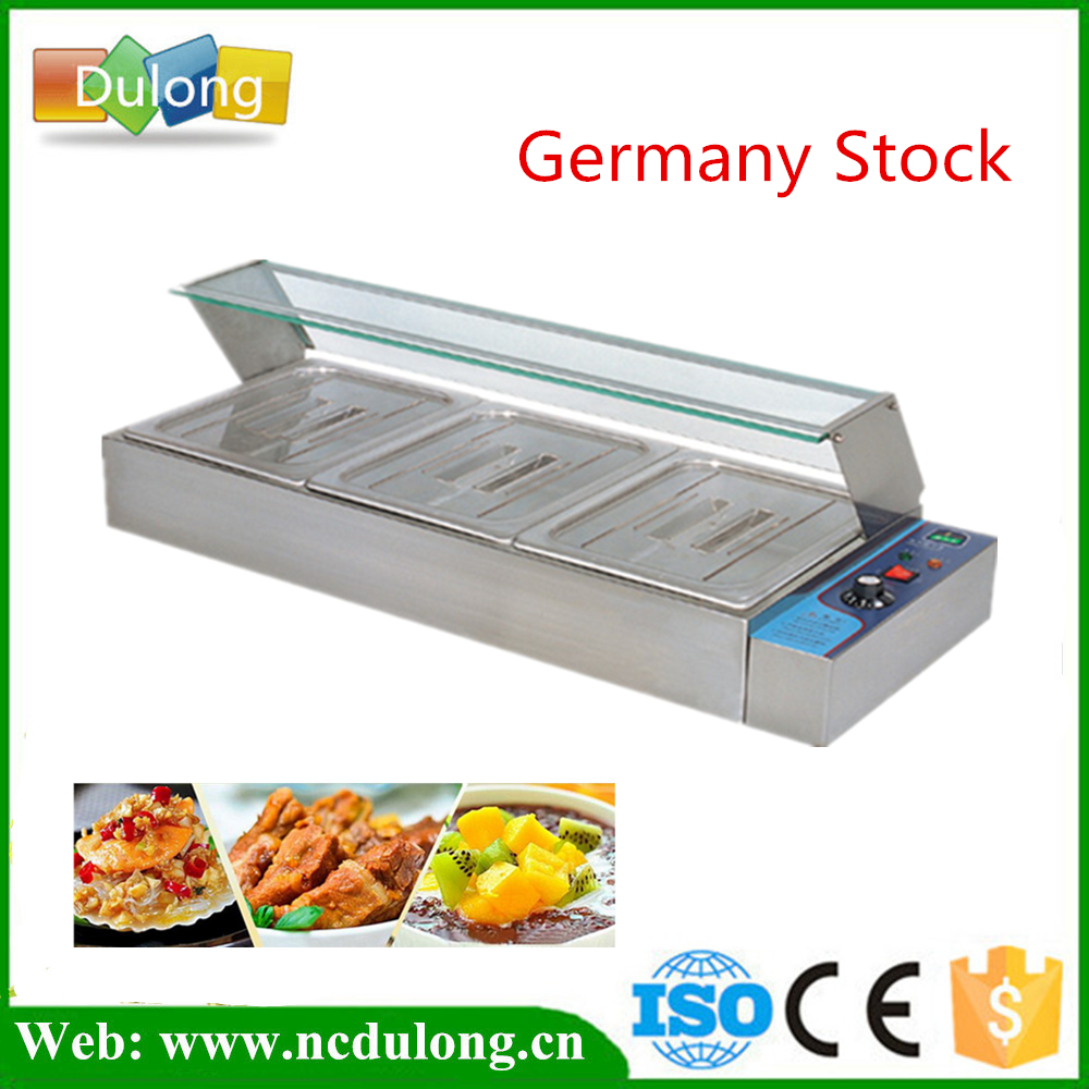 Stainless Steel Food Warmer Professional Commercial Kitchen Equipment Electric Countertop Bain Marie fast food leisure fast food equipment stainless steel gas fryer 3l spanish churro maker machine