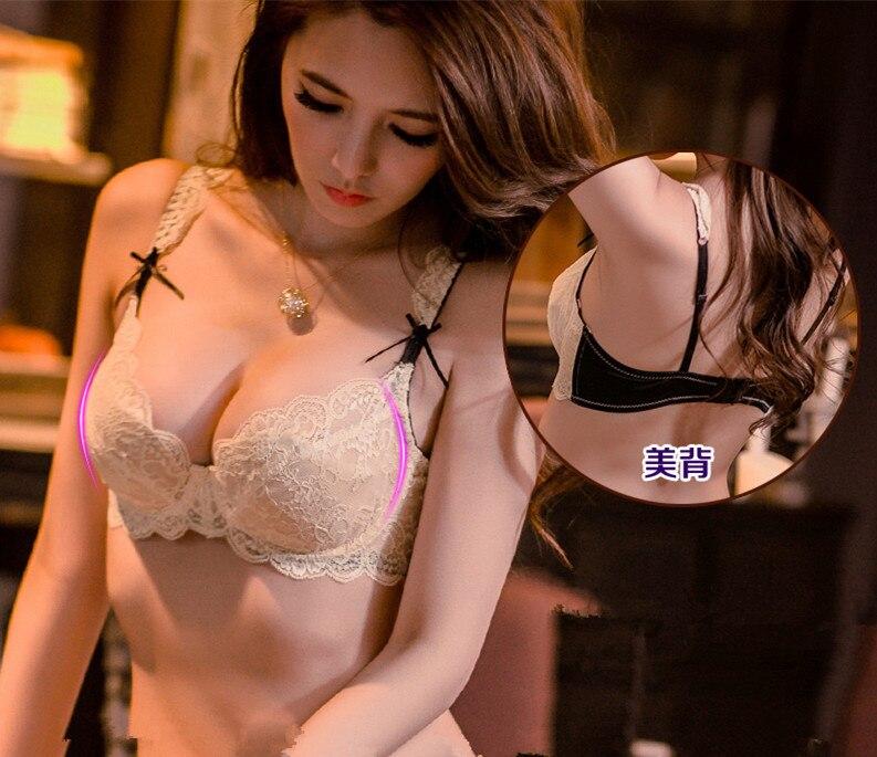 f4f5e1946 2015 nova transparente modelos finos sexy mulher push up conjunto sutiã de  renda lingerie roupas íntimas femininas sutiã e calcinha set big tamanho B    C ...