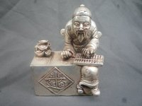 Rare vivid Old silver Statue/ Sculpture characters , Best collection&adornment,Free shipping