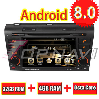 Topnavi 7'' Octa Core Android 8.0 Car DVD Play for MAZDA 3 2004 2005 2006 2007 2008 2009 Autoradio GPS Navigation Audio Stereo image