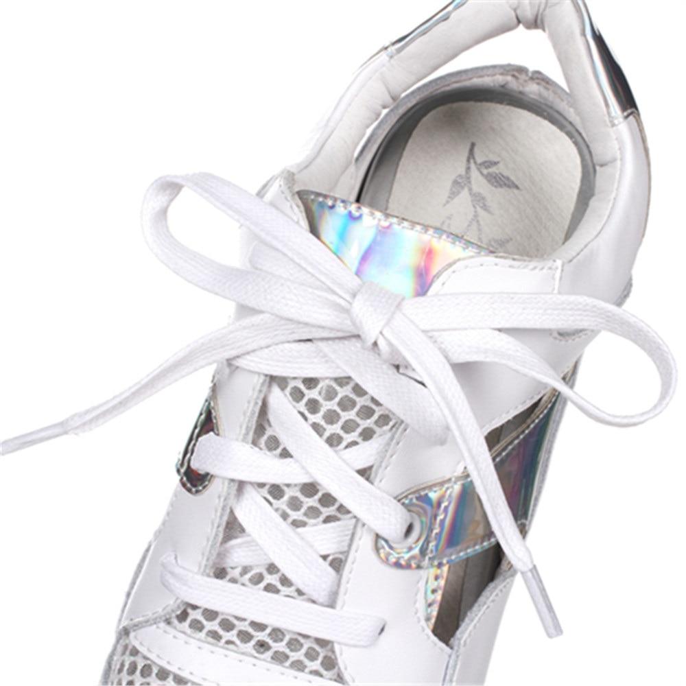 delle della Sport 32 del Aumento Asumer Estate 40 interna Formato pompe nuova dei Bianco genuino piattaforma donne maglia 2018 moda cuoio pattini qXPHxXzZw