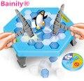 [Bainily] Действие Ледокольного Сохранить Пингвин Рисунок Большой Family Fun Игры Kid Toy Тот, Кто Делает Пингвина Упасть Подарок