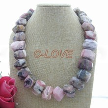 Stunning !Natural Pink Opal Necklace