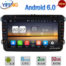 8″ Octa Core 2GB+32GB Android 6 2DIN Car DVD Radio Player For Volkswagen Touran Tiguan Caddy Fabia Rapid Praktik Roomster Superb