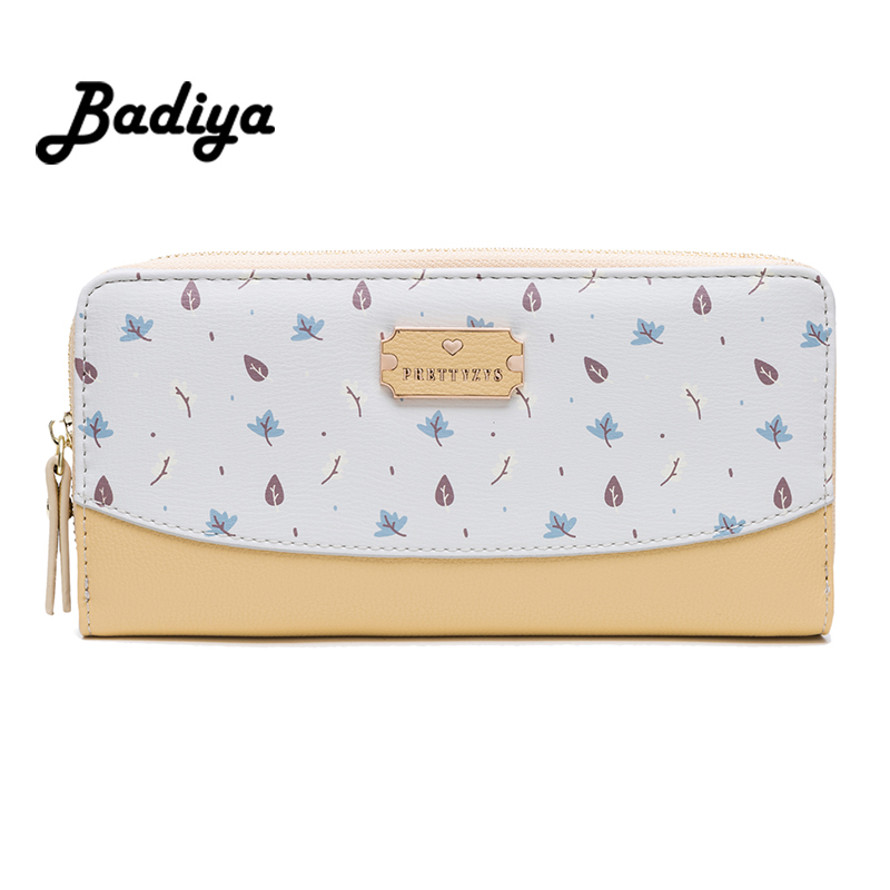 Women Floral Long Wallet Multifunction Phone Bag Flower Girl Clutch Bag Zipper Hit Color Lady Coin Purse Summer Card Holder Gift