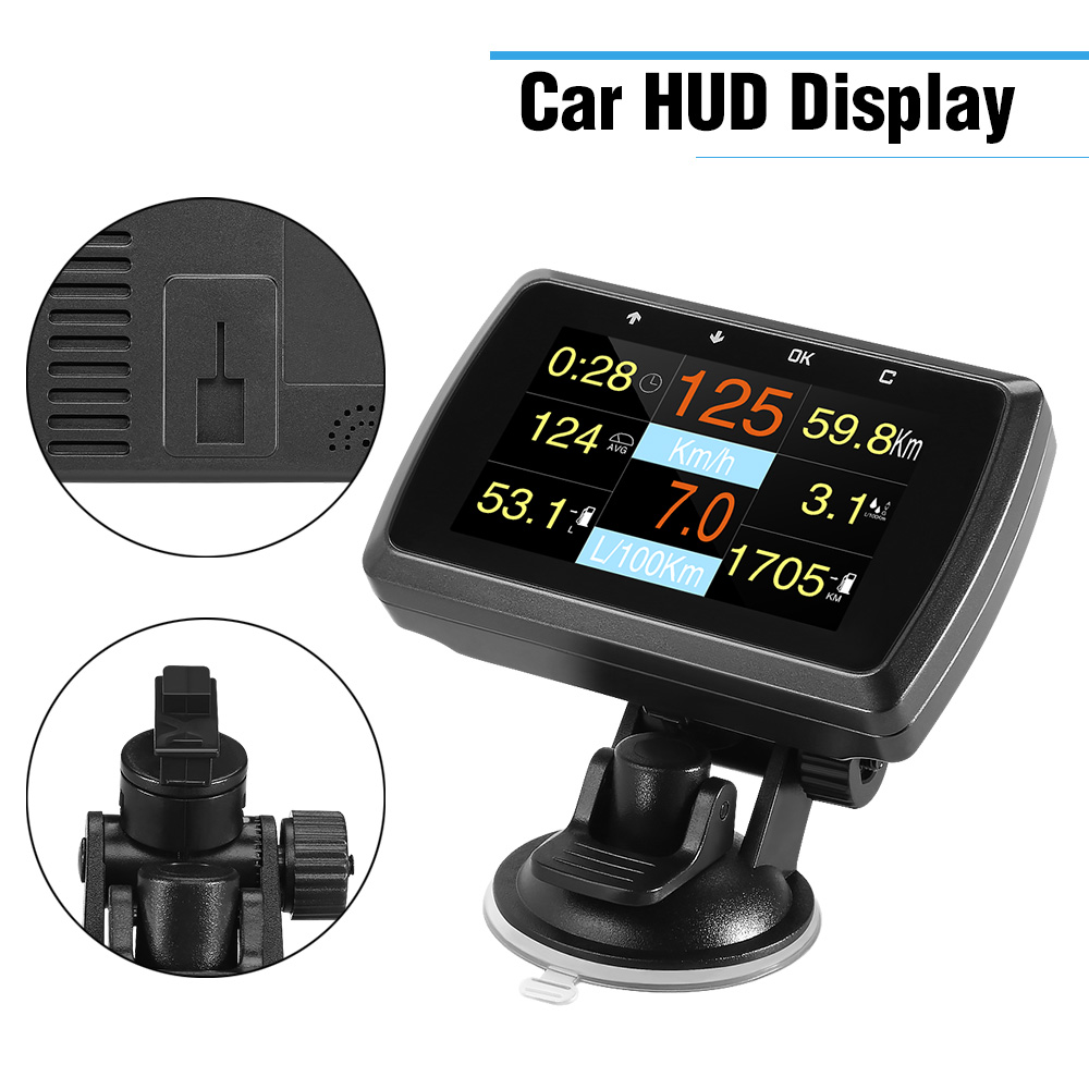 Image 3 - HUD Head Up Display A501C OBD2 On board Computer For Car Fuel Consumption Temperature Meter Speedometer OBD 2 HUD Display-in Head-up Display from Automobiles & Motorcycles