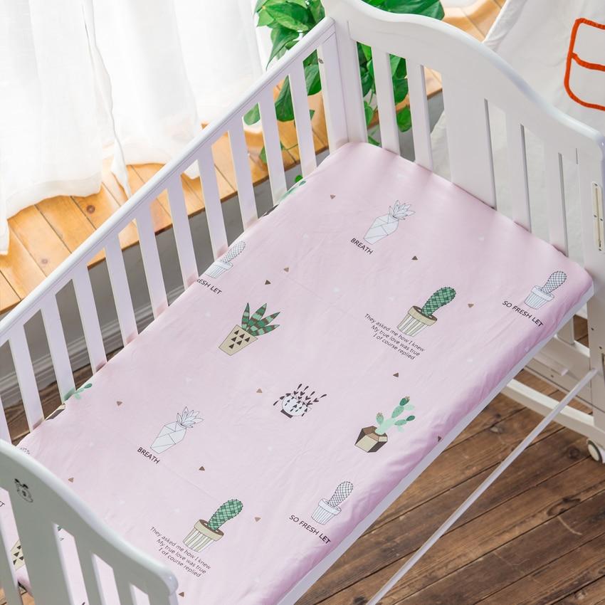 100% Baumwolle Krippe Ausgestattet Blatt Baby Bett Matratze Abdeckung Angepasst Krippe Deckt Baby Bettwäsche Blatt Für Bett Größe 120*60/130*70 Cm In Verschiedenen AusfüHrungen Und Spezifikationen FüR Ihre Auswahl ErhäLtlich