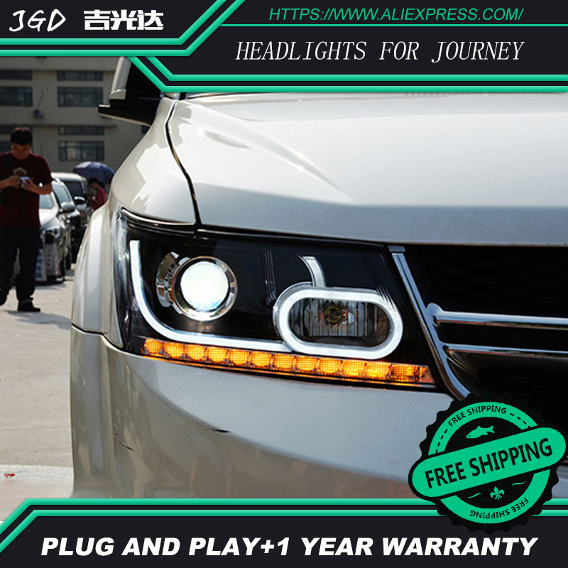 Auto.Pro Car Styling for Dodge JCUV LED Headlight Journey Headlights LED DRL Lens Double Beam HID KIT Xenon bi xenon lens hireno headlamp for volkswagen tiguan 2017 headlight headlight assembly led drl angel lens double beam hid xenon 2pcs