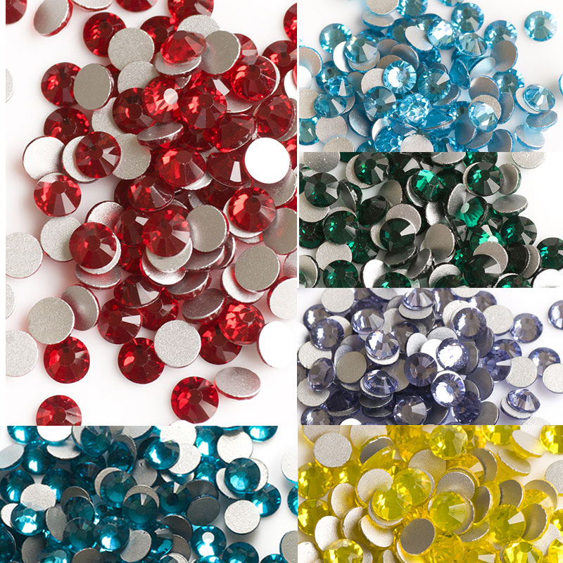 SS16 Colors Non Hotfix Rhinestones For Clothing Wedding Garment Nail Art Decorations Flatback Crystals Stones Accessories in Rhinestones from Home Garden