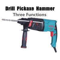 220 v 850 w Portátil Despesas Familiares Multifuncionais Ferramentas De Poder Broca Elétrica Martelo Picareta Ferramenta Multi Soco (com 4 pcs Brocas) hammer drill power tools electric hammer drill -