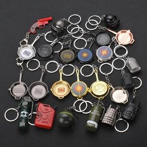 Image 1 - Jouet darme PUBG, jeu en vogue, Costume de Cosplay, sac à dos, couteau, modèle métallique, porte clés, Costume de Cosplay