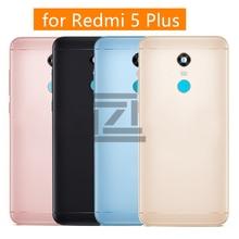 Pour Xiaomi Redmi 5 Plus couvercle arrière de la batterie boîtier de porte arrière en métal + clé latérale pour Redmi 5 Plus pièces de rechange de réparation de remplacement