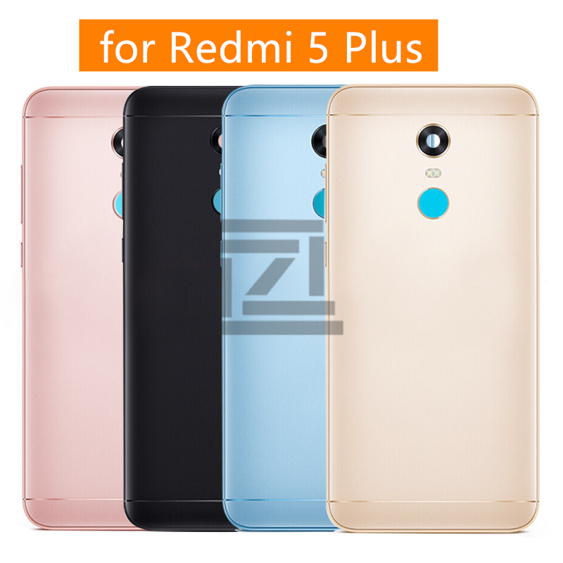 for Xiaomi Redmi 5 Plus Battery Back Cover Metal Rear Door Housing + Side Key for Redmi 5Plus Replacement Repair Spare Parts
