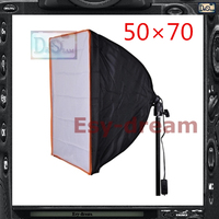 50 70 With Power Socket E27 Photo Studio Rectangle Foldable Softbox Soft Box For Strobe Flash