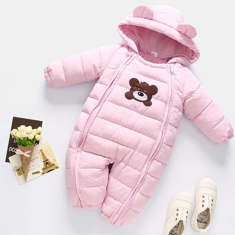 Outerwear Jumpsuits Onesies Newborn Baby-Girls Winter Long-Sleeve Cotton Star For Kids