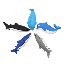 USB flash drive cartoon sharks pen 4GB 8GB 16GB 32GB 64GB dolphin memor ystick mini computer gfit pendrive usb stick