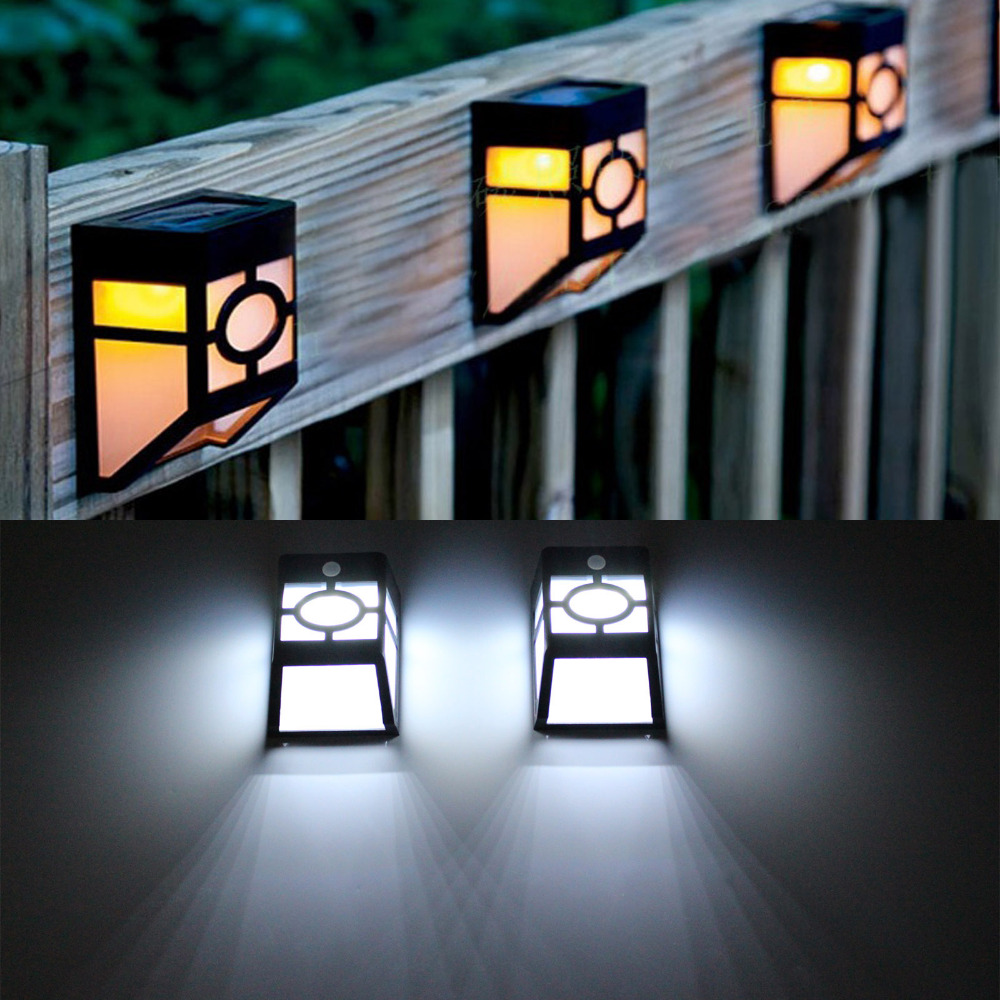 Outdoor Solar Lights Reviews: Solar Powered Wall Mount 2LEDs Lantern led solar light outdoor Landscape garden  light solar lamp Walkway Park Path IP55 Lights,Lighting