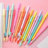 Juego de bolígrafos de Gel de color agua 12 24 36 bolígrafos de fibra de micrón para escribir bocetos papelería oficina escuela suministros A6261