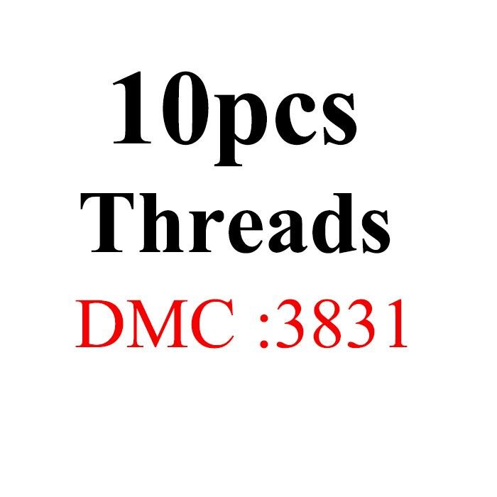 Snowlover, рукоделие, 10 шт./лот, 1,2 м, разные цвета, DMC3824-3848, вышивка крестиком, хлопковое шитье, моток пряжи, нить для вышивки - Цвет: 1.2mthread-DMC3831