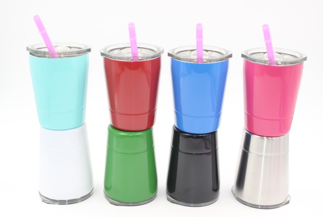 51e8e46ed16 9oz Tumbler mini kids cups wine glasses Stainless Steel mugs Travel Vehicle  Beer Mug non-