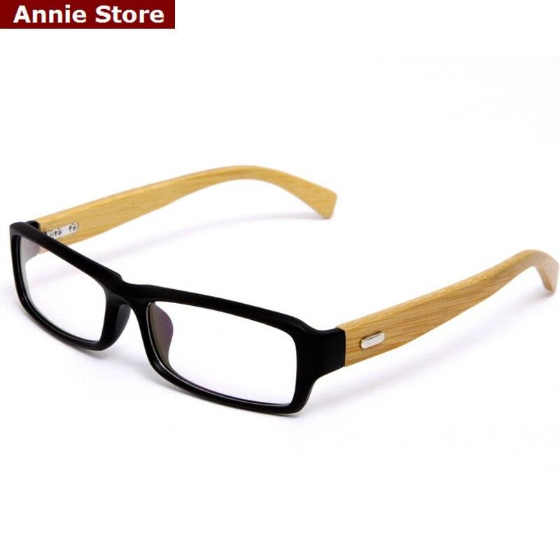 Retangle Glasses Frame Clear Lens Optical Eyeglasses Frames Wooden ...