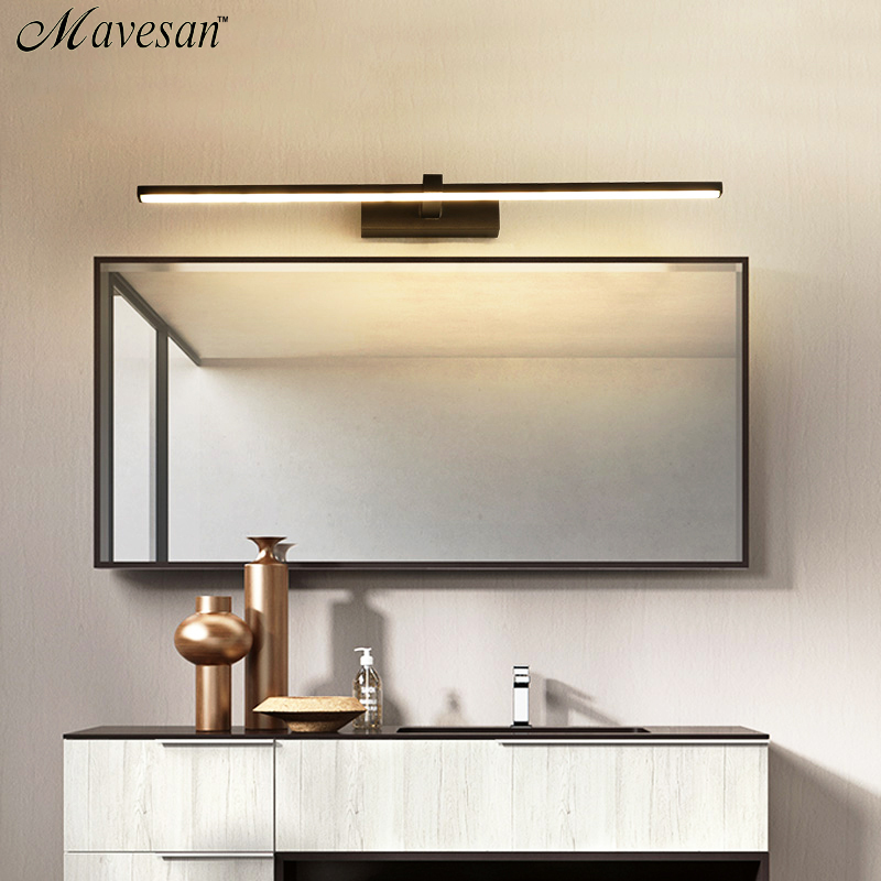 led mirror light Wall lamps bathroom Waterproof white black LED flat lamp Modern indoor Wall lamp