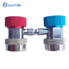 R134A automotive air conditioning quick coupler adjustable joint QC-17A High and low pressure connector 1/4SAE