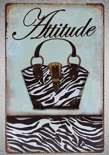 1 pc Attitude bags store Leather Shop Tin Plate Sign plaques Man cave vintage metal poster