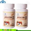 2 garrafas/lote Real Chinês Lingzhi Ganoderma Lucidum Esporo Em Pó Natural Suplementos cápsulas Reishi Orgânica de Cuidados de Saúde À Base de Plantas