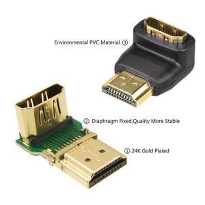 Image 3 - HDMI Kabel Adapter Konverter 90/270 Grad Winkel HDMI Stecker Auf HDMI Buchse Konverter Für 1080P HDTV PC HDMI Adapter