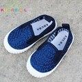 Bebê Meninos sapatos de Lona Sapatos Casuais Crianças Sapatos Denim Respirável Sneakers Meninas Esportes Anti-Escorregadio C151