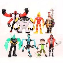 Hot Sale ! 9Pcs/Set Ben 10 Action Figures Toys 3-12CM Protector Of Earth PVC Ben 10 Brinquedo Doll Toys For Boys