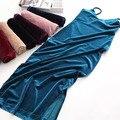 Сексуальный плотный бархат Спинки dress Bodycon женщины осень зима dress Элегантный красный вечерние платья партии 2016 женский клуб vestidos