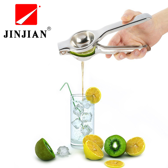 JINJIAN Rvs Druk Lemon Lime Oranje Juicer Citrus Citroen juicer keuken bar Food Processor Gadget Keuken Gereedschap