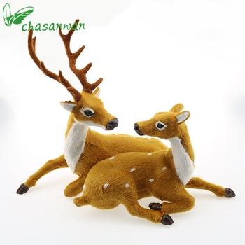 Unids 1 Pieza Mini Simulacion Reno Navidad Ornamento Plasticofelpa - Ciervo-navidad