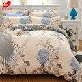 Clássico jogo do fundamento tamanho 5 cinza flor azul cama linhos 4 pçs/set capa de edredão set folha de cama Pastorais lado AB capa de edredão 2017 cama