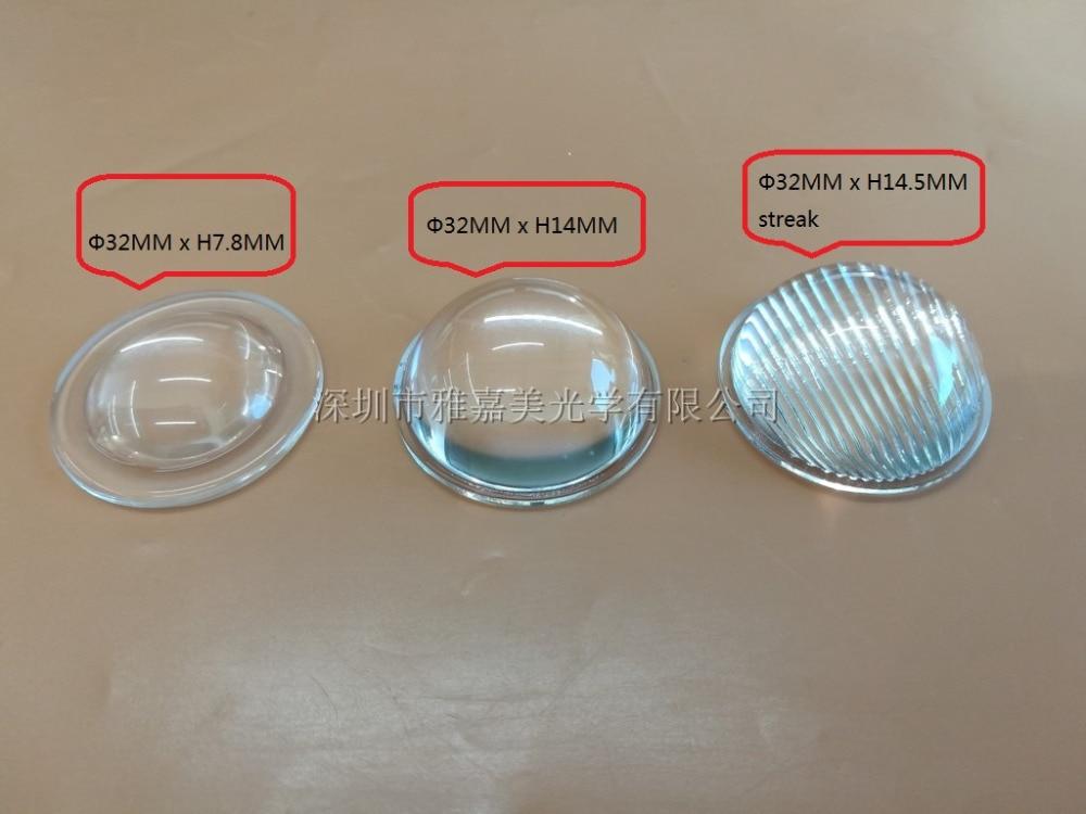 focusing plano convex led lens 32mm glass convex lens