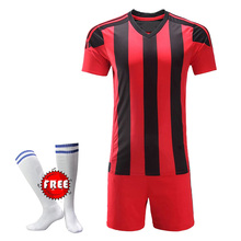 cf6c135b4 2018 New Free Football Socks Kids Football Kits Boys Soccer Sets Jersey  Uniforms Child Sport Training