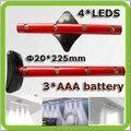 2 * portátil magnética CONDUZIU a Luz do Armário LED sob gabinete lâmpadas LED Armario lampara 3 * AAA bateria seca para armário de cozinha etc