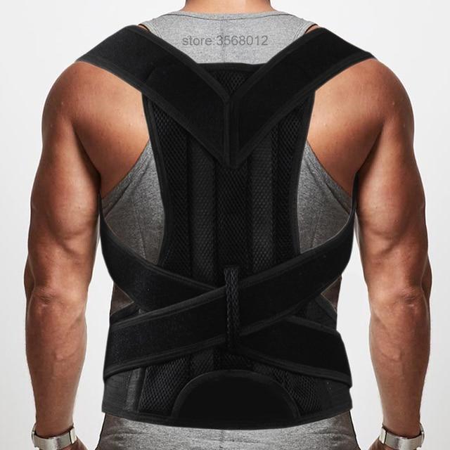Superior ajustable espalda hombro clavícula correa de soporte Corrector de  postura mejorar la postura corrección sentado ed2e8e59c2ff
