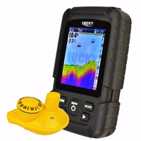 100M 328ft Wireless Sonar Sensor 45M 145ft Depth Coverage Lucky Rechargeable Colored LCD Fish Finder Locator