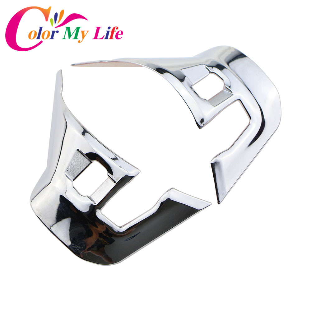 Color My Life Car Styling Chrome Steering Wheel Decoration Trim Cover Sticker for Peugeot 208 GTI 2008 2014 - 2017 Accessories