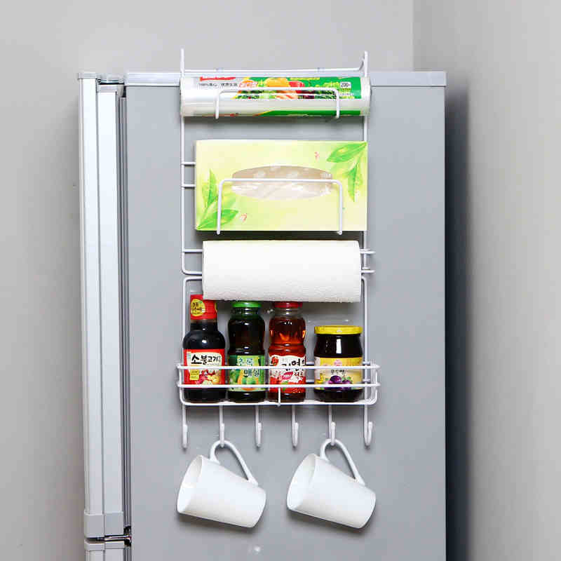 ράφι κουζίνας ράφι ψυγείο τοίχο κρεμάστρες κάτοχοι αποθήκευσης δημιουργικές προμήθειες κουζίνας Πάρτε ένα πλαίσιο καρύκευμα αποθήκευσης καρύκευμα